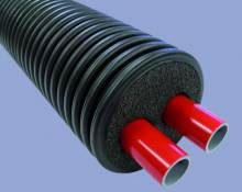 Produktbild: THERMAFLEX Flexalen 600 für Heizungsbereich Doppelleitung 2 x 3/4 Zoll / Hüllrohr 125 mm (Meterware)